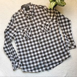 Lucky Brand Dungarees Plaid Shirt Size XL